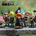 Anime One Piece Good PVC 9 Styles Black Suit Action Figure Mini Robin Luffy Zoro Model