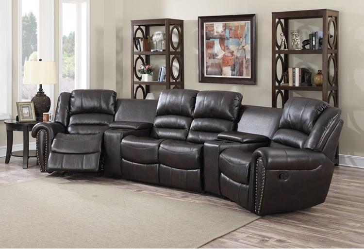 Sillones para cine en casa cool sof negro lujo de cuero cine en casa asientos con de madera - Butacas cine en casa ...