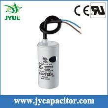 6UF 450V CBB60 taizhou generator motor run capacitor with cable
