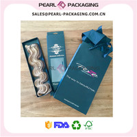 Hair Extension Packaging Gift Set, Hair Box with Matching Paper Gift Bag for Shopping