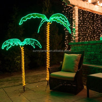 IP65 mini light christmas tree lighting LED rope light palm tree, rope palm tree