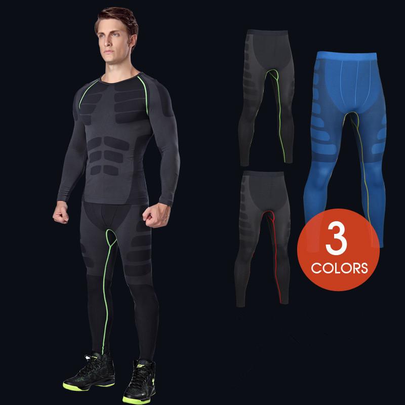 Men Sports Apparel Skin Tights Compression Base Under Layer Long Pants