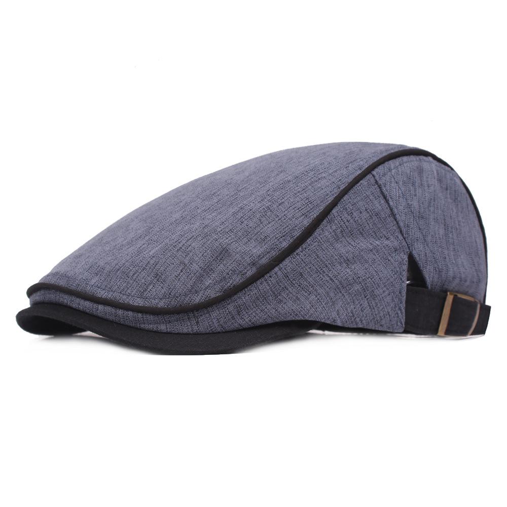 3dbefa631 New Fashion Male Beret Flat Cap Leisure Men Newsboy Hat Winter Chapeau  Gentleman Silk Screen Hat Autumn Bone