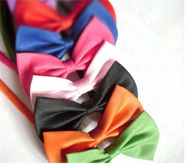 Dog Ties 15 Colors Pet Grooming Accessories Rabbit Cat Dog Bow Tie Adjustable Bowtie Multicolor Polyester