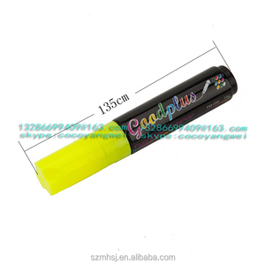 yellow dry erase marker 10mm YELLOW window marker pen/window paint chalk marker