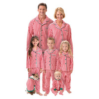 Candy Cane Fleece Matching Family Pajamas Knit Pajamas PJs Sets Wholesale Clothing Fashion Apparel
