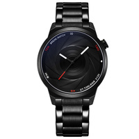 Break Watch T25 Fashion Luxury Brand Unique Camera Style Stainless Strap Photographer Men Women Wrist Watch