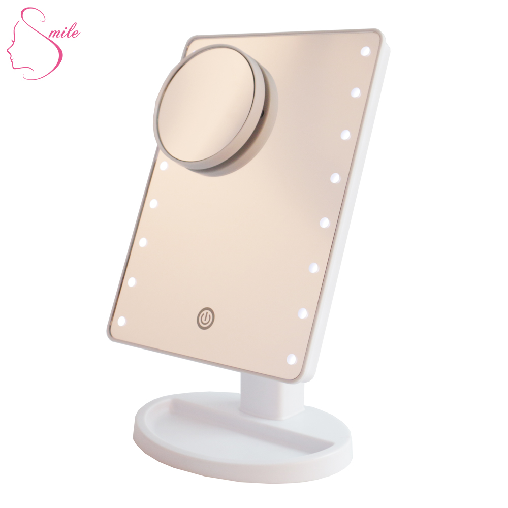 Custom Cosmetic Mini Foldable Led Abs Pocket Compact