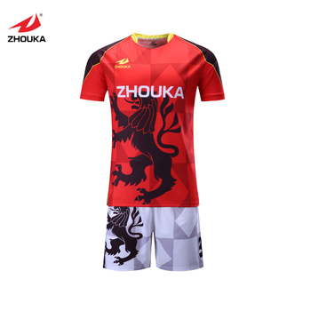 7e738fd6cbc New model football red and white 100% polyester dry fit football jersey t  shirt maker
