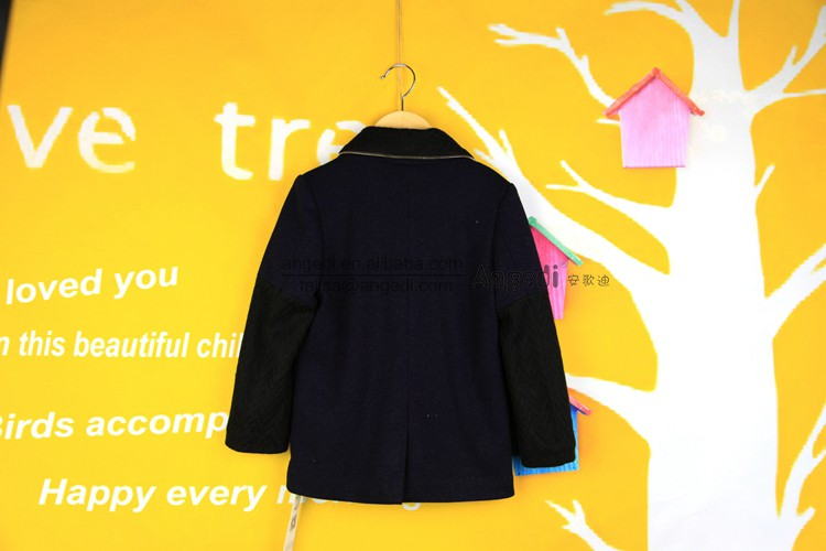 Boutique clothing fleece lining children winter jacket