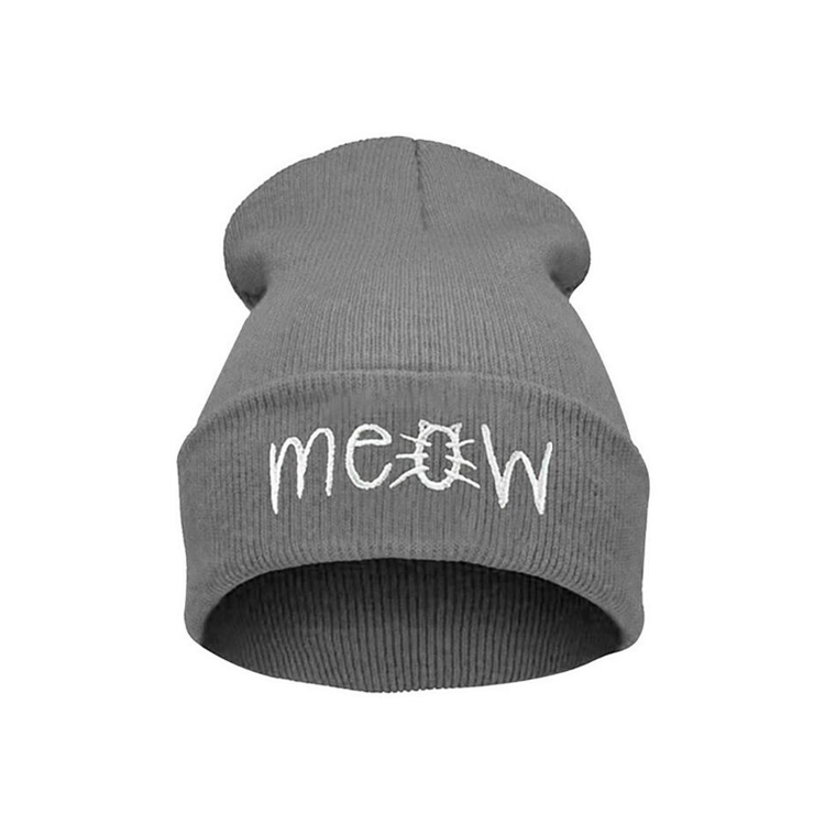 c88f94e8 Hot Sale] 500pcs/lot Meow Winter Hat For Women And Men Beanies ...