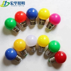 G45 0.5w 1w Led Color Bulb Vintage Light Bulbs B22 led Lighting