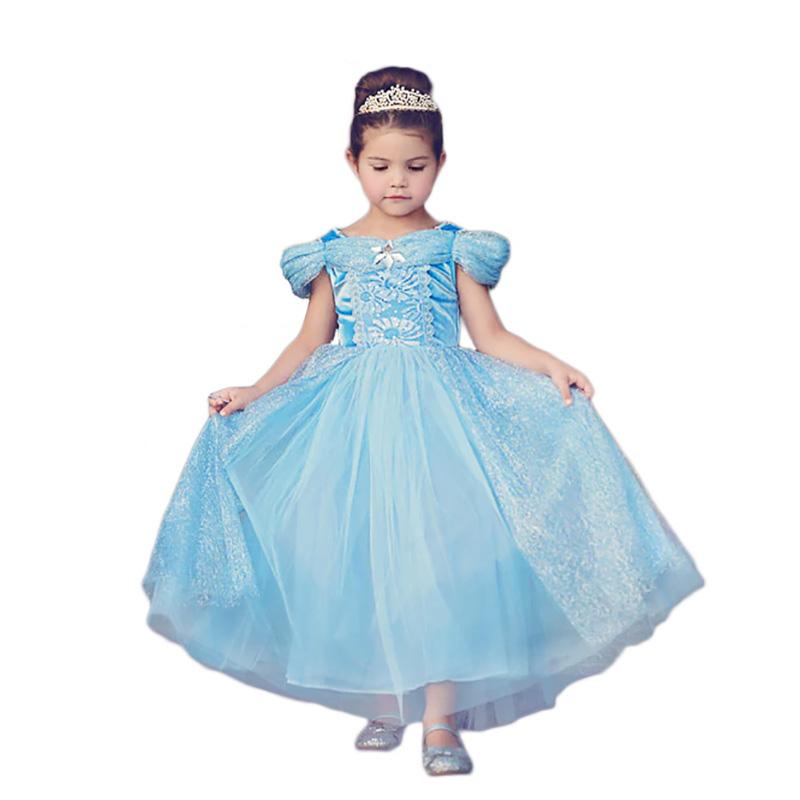 3e02753788b1 Principessa Costumi di Halloween Per Le Ragazze Marvelous Ragazze  Cinderella Cosplay Dress up Bambini Di Compleanno