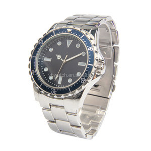 fashion alloy waterproof luxury diver watch travel case