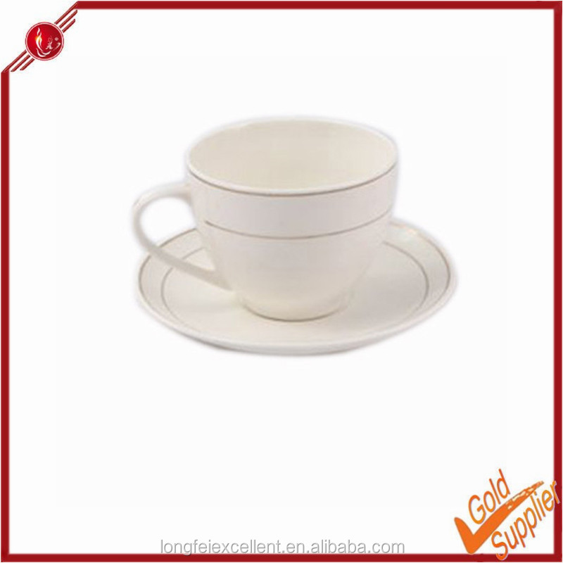High quality and cheap wholesale from Yiwu longfei porcelain tea cups and saucers