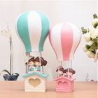 Hot air balloon night light student gift couple gift resin decoration crafts