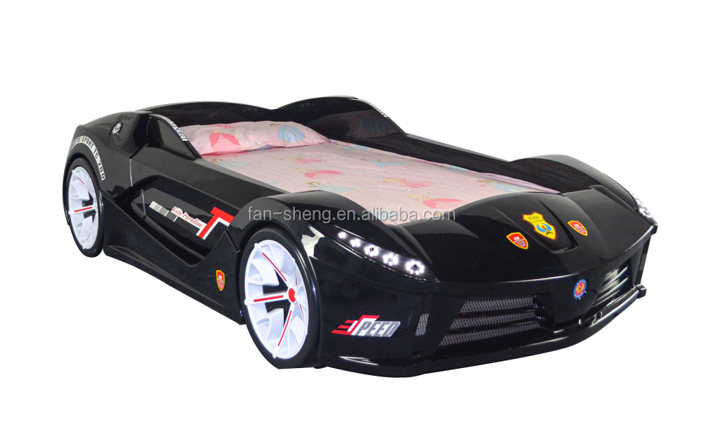 LED Racing car bed car toddler to Twin Bed with Lights and Sound