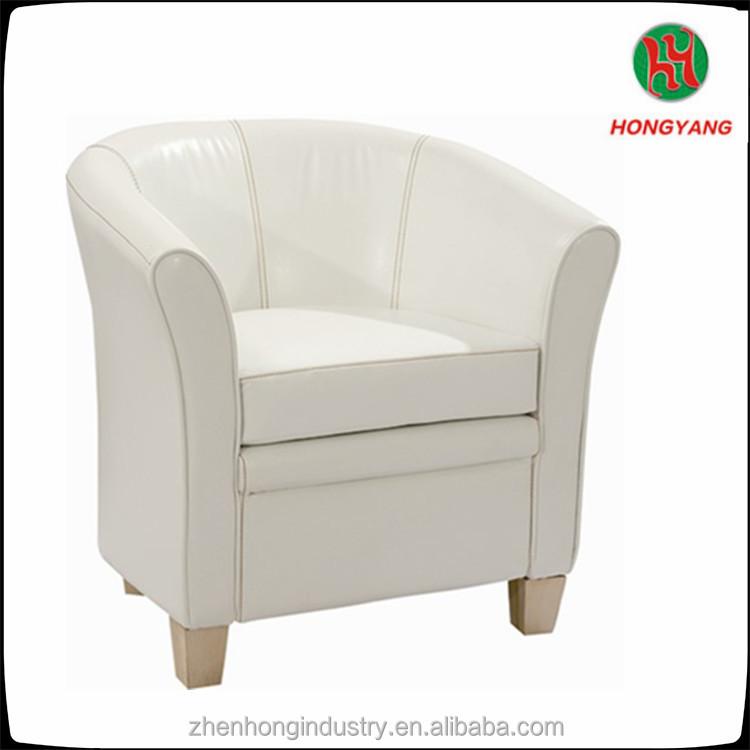 Modern Tub Chair White Leather Cover Hotel Sofa Chair Cheap Hotel ...