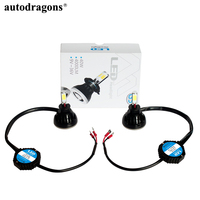 Autodragons High Power 80W 6000k 6500k C6 G5 V8 COB LED Headlight Kits with H4 H7 H3 9005 9006