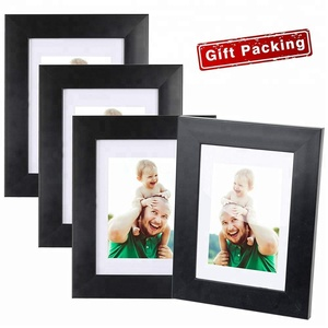 Wholesale small black picture frames for Table Top Display or Wall Mounting