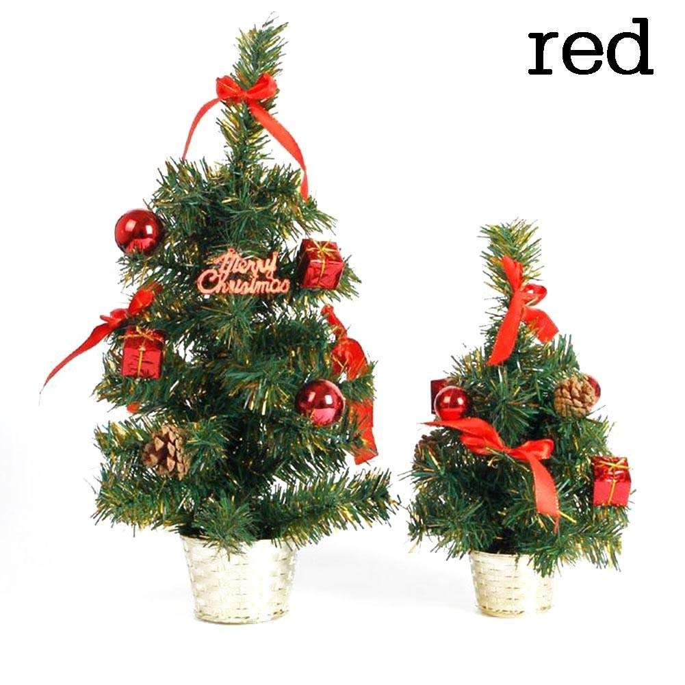 get quotations fairysu christmas treetabletop artificial christmas pine cones trees 11 17inch red - Live Tabletop Christmas Trees