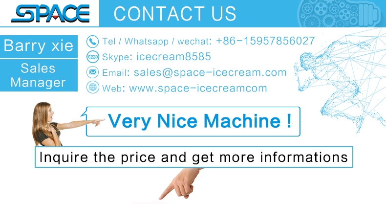 Small size single flavour  table top soft ice cream machine 6226 CE ETL