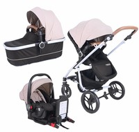 2017 New hot selling lightweight cheap one hand easy quick fold 3 in 1 baby stroller