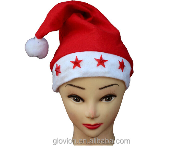 Best sale christmas hat with five flashing star funny