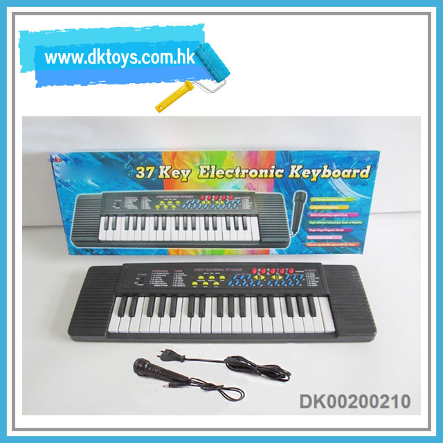 Educational musical toy 37 keys electronic keyboard with microphone and charger