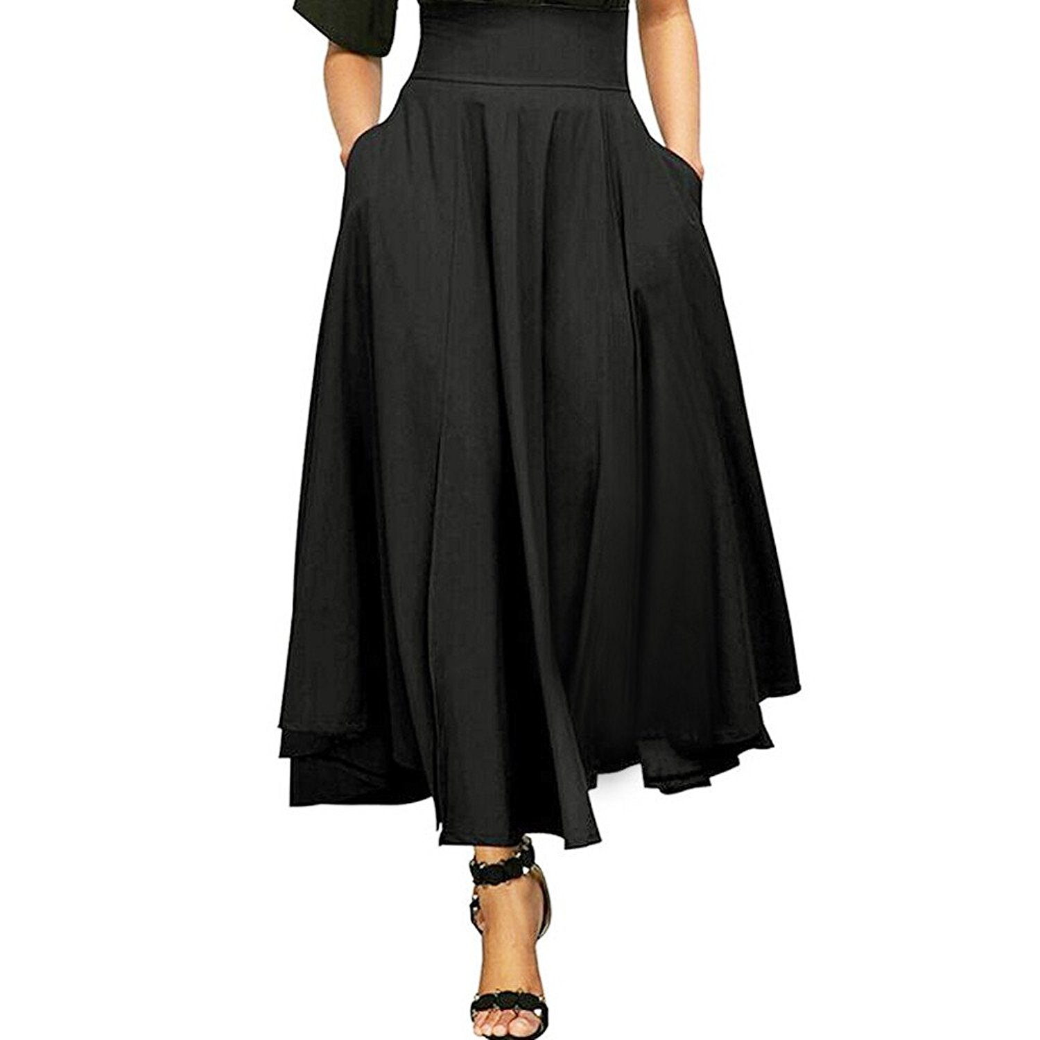 7d62742f24b Get Quotations · Slit Belted Maxi Skirt