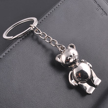 Lovely Animal Shaped Charm Coin Circle Rings Cute Bear Shape Pendant Keychain Wallet Decoration Keychain For Girls