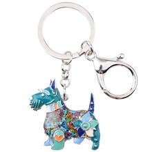 Брелок для ключей WEVENI, эмалированный металлический Абердин, шотландский терьер, собачий брелок, украшения для женщин, сумка для ключей, аксе...(Китай)