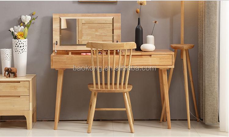 Kaptafel Met Spiegel : Moderne nieuwe ontwerp kaptafel met spiegel eiken hout slaapkamer