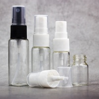 High quality 5ml 10ml 15ml 20ml round tube clear amber glass perfume spray bottle with plastic sprayer