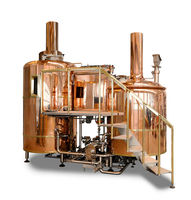 1000L fully automatic PLC control micro beer brewery equipment for sale with copper tanks
