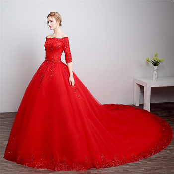 Vintage ball gown images galleries for Big red wedding dresses