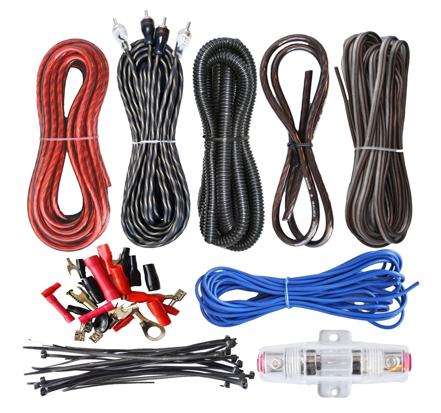 Buy 10 GAUGE AWG WIRE AMP KIT. CAR AUDIO AMPLIFIER INSTALLATION ...
