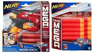 Bundle: Nerf N-strike Mega Bigshock Blaster(1) Nerf N-strike Elite Mega Dart Refill Playset (10-pack)