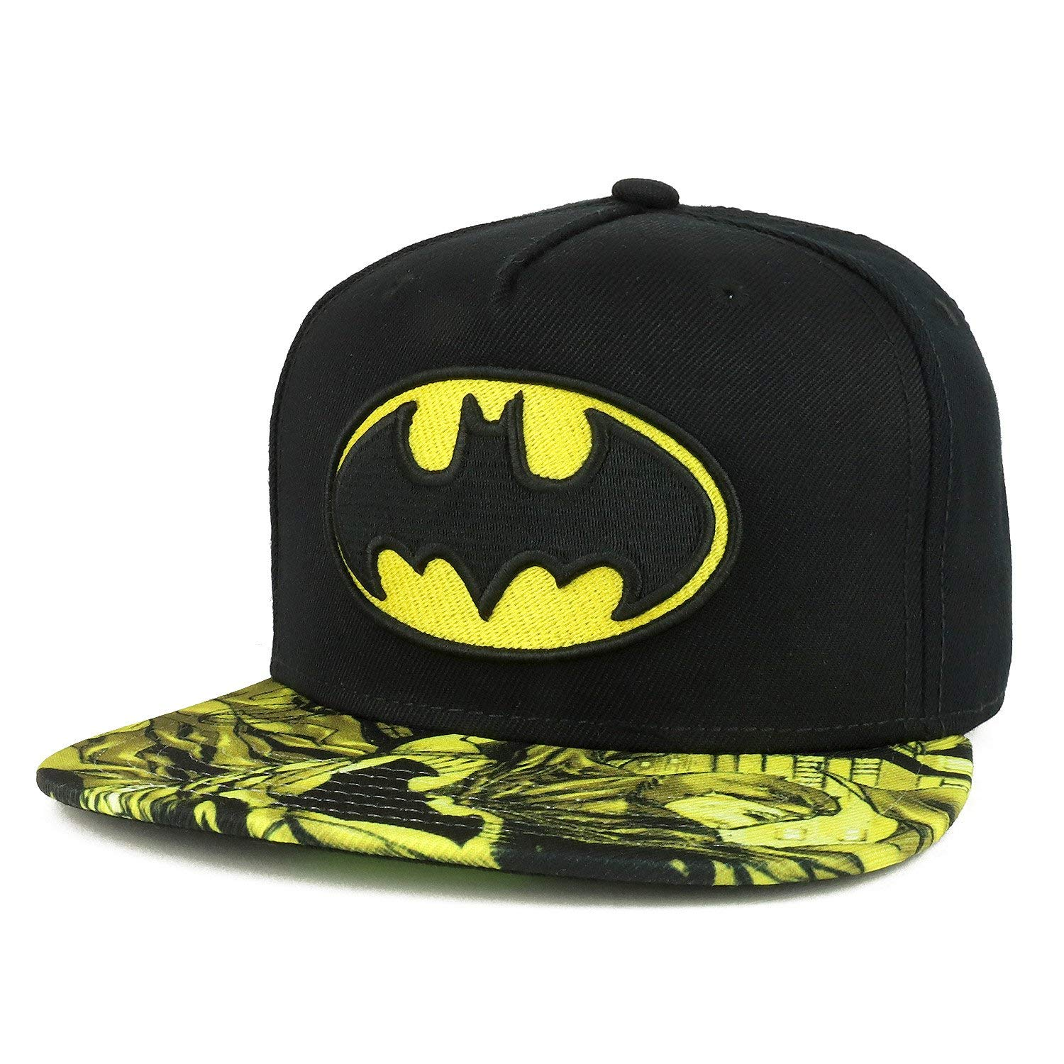 aae864a61c4 Get Quotations · Armycrew Youth Size Kid s Batman Logo Design Embroidered  Flatbill Snapback Cap