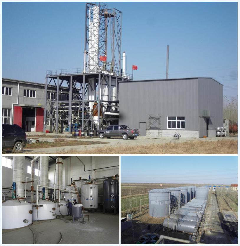 Điện chất thải vắt dầu nhiệt phân dầu diesel chưng cất nhà máy