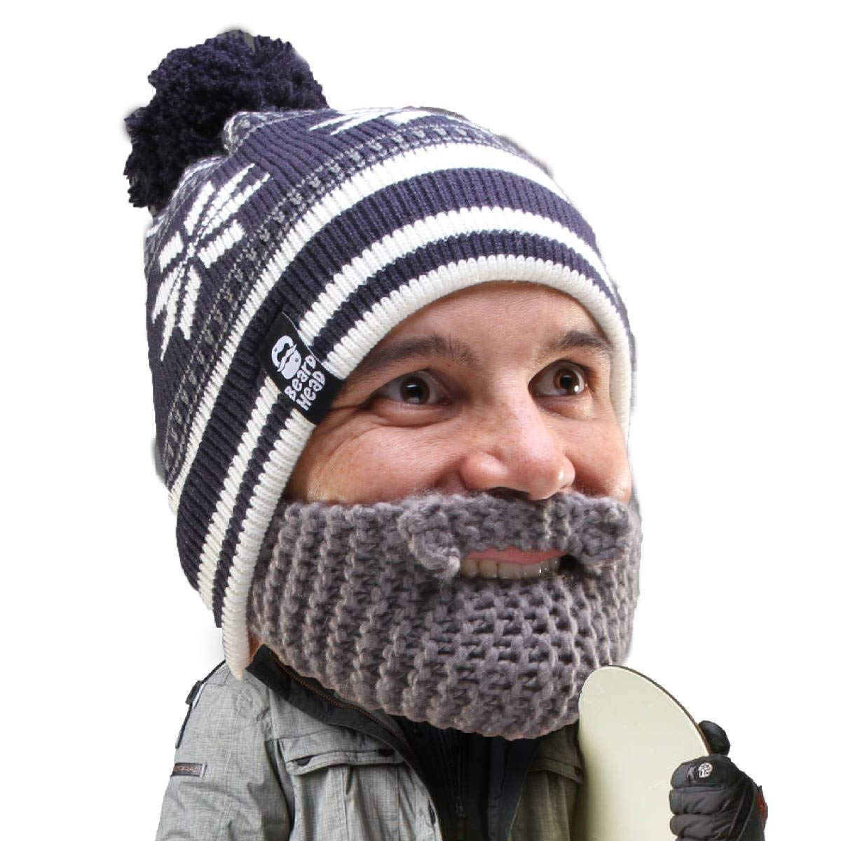 Get Quotations · Beard Head Stubble Bumper Beard Beanie - Funny Winter Hat  w Fake Beard 0c0c00740ef