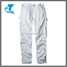 Herfst dubbele knie pad mannen wit schilders <span class=keywords><strong>broek</strong></span>