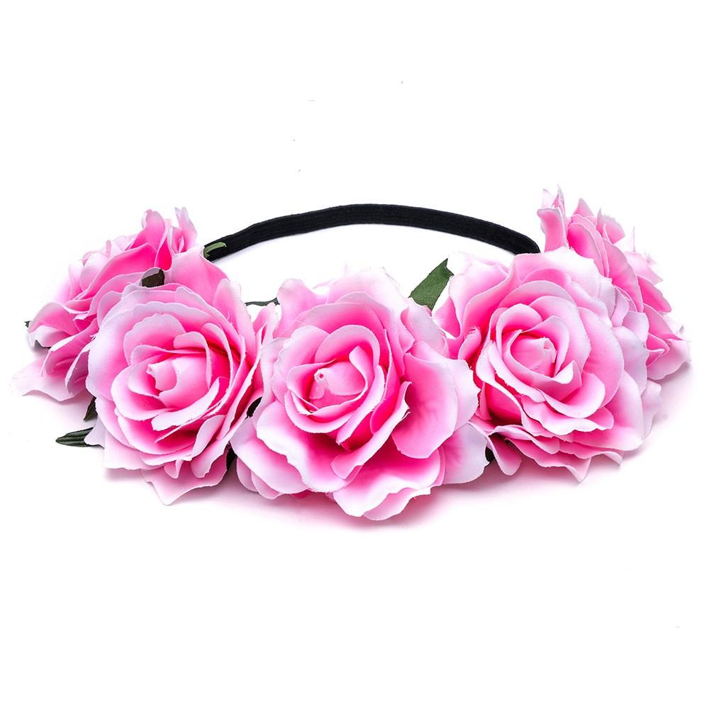 Handmade red flower crown rose flower headbands buy rose flower handmade red flower crown rose flower headbands izmirmasajfo Images
