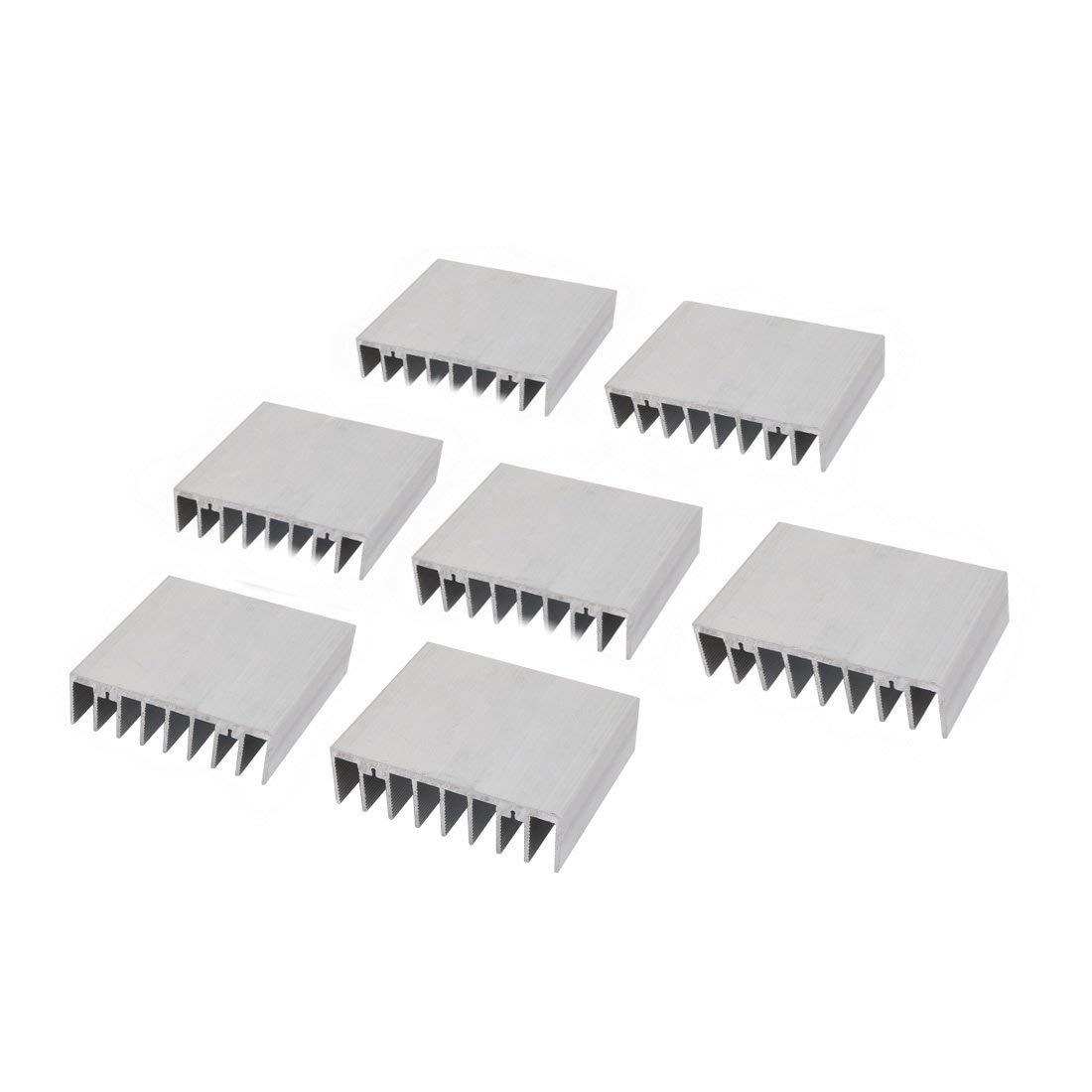 uxcell 5Pcs Heat Diffuse Dissipation Chipset Aluminium Heatsink Cooling Fin 61mmx44mmx11mm