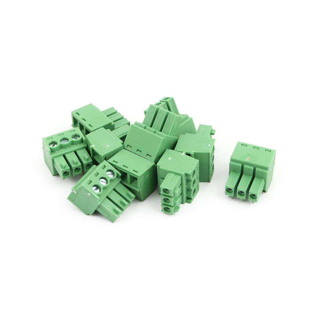uxcell 10Pcs AC300V 8A 3.81mm Pitch 3P Terminals Block Wire Connection for PCB Mounting