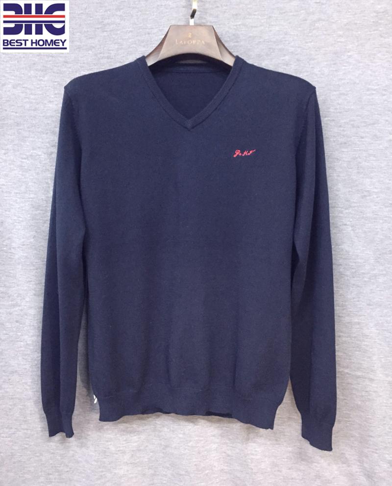 9ed6ccca0 Ações dos homens por atacado de algodão suéter de cashmere V escritório  pescoço pullover camisola com