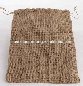 Eco-friendly wholesale custom Christmas Champagne bottle covers linen gift pouches jute wine bottle bag with strong drawstring