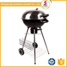 2017 Hot sale professional barbecue smoker grill portable bbq with storage basket