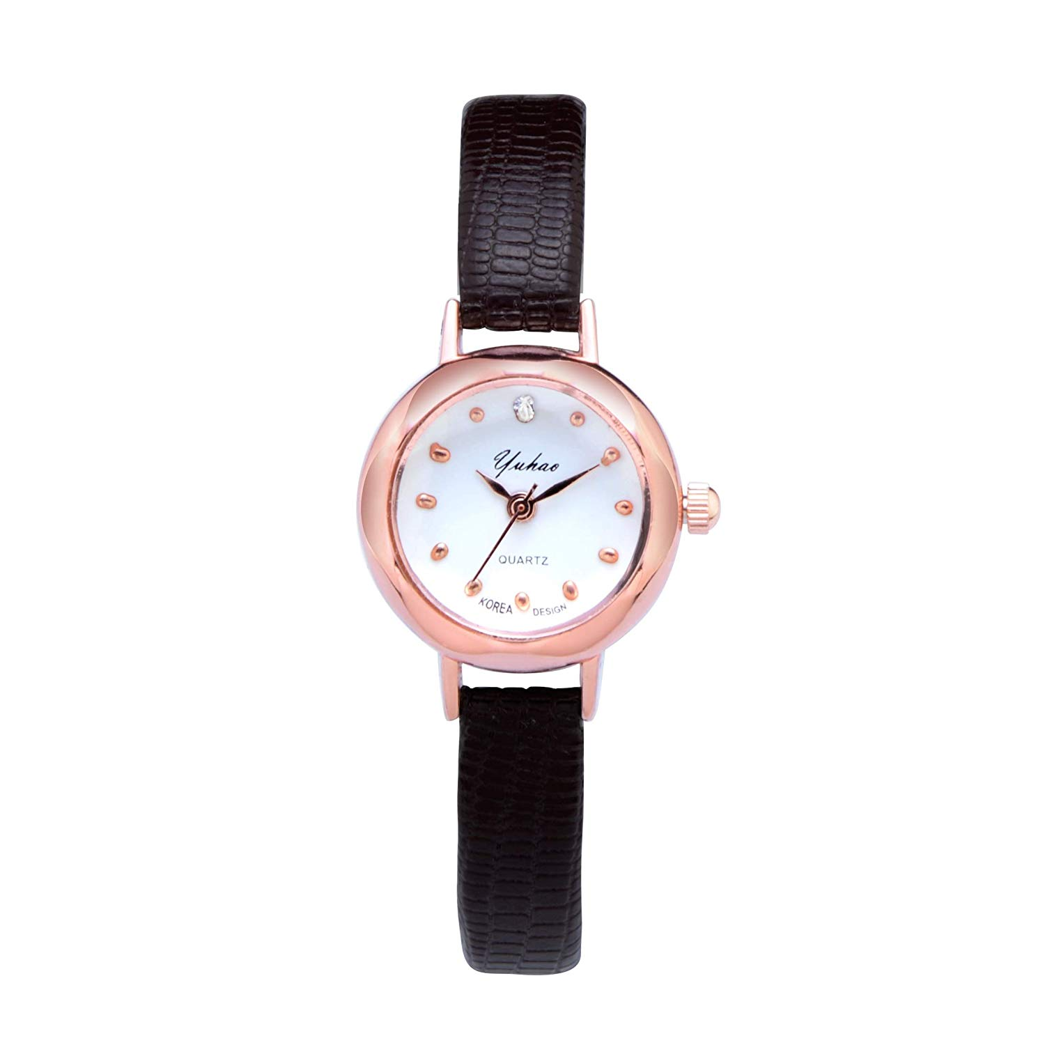 JEGOAU Unique Women Gift Watch Women Girls Student Waterproof Casual Fashion Exquisite Rose Gold Retro Atmosphere fine (yu hao Black Box + Cell +