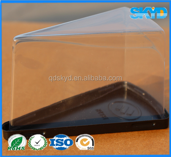 disposable triangle transparent sandwich/cake plastic container